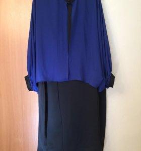 Платье футляр с накидкой