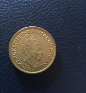 Монета Дания 20 крон 1996