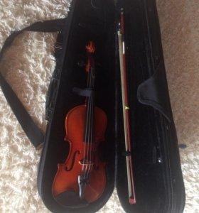 Скрипка с чехлом детская