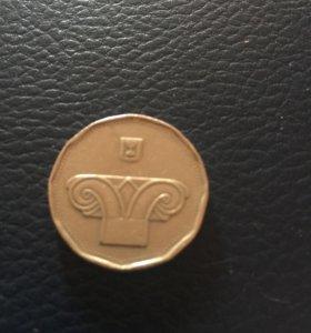 Монета Израиль 5 шекелей