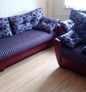 Комплект мягкой мебели (диван и 2 кресла)