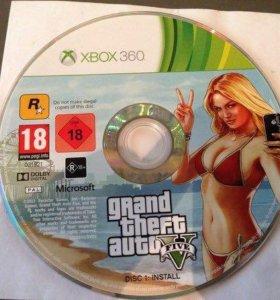 Установочный диск GTA 5 для Xbox 360