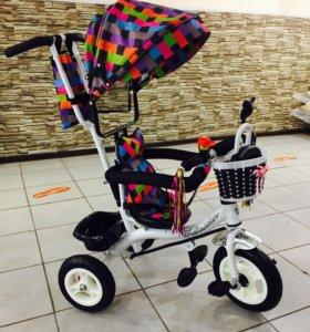 Велосипед трехколёсный с навесом