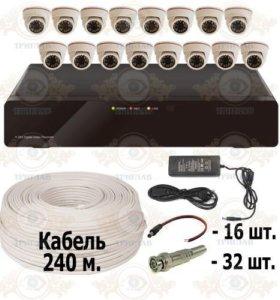 Комплект AHD видеонаблюдения из 16 внутренних AHD