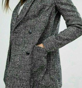Полупальто пиджак с шерстью новый