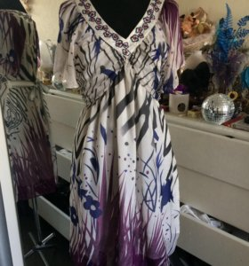 Шифоновое летнее платье bcbg maxazria