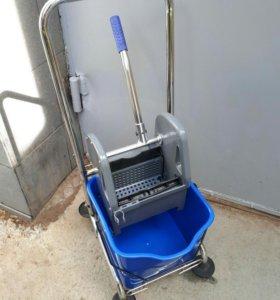 Тележка для уборки AF08082 с корзинкой