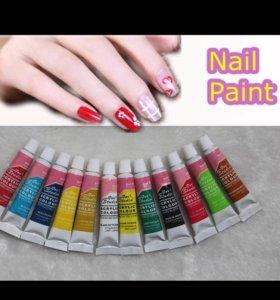 Акриловый краски для дизайна ногтей