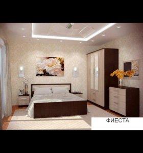 Спалный гарнитур/спальня ФИЕСТА с 4х ств шкафом!