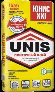 Клей плиточный ЮНИС XXI желтый (25 кг) /48/
