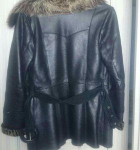 Куртка,кожа,натуральный мех