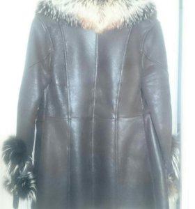 Куртка,кожа,мех лиса