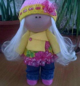 Текстильная куколка,28 см