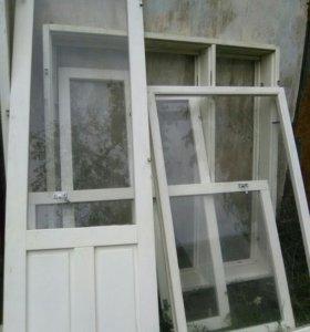 Балконный блок,застекленный с коробками