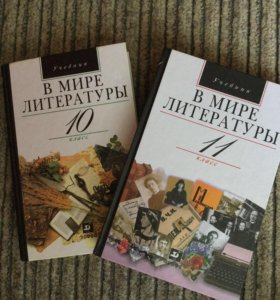 Учебник по литературе 10-11 класс (2 шт)