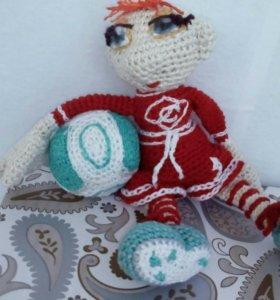 Кукла болтоножка Футболист