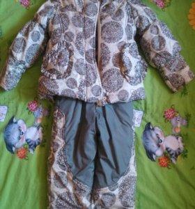 Зимний костюм на 3-4 г