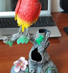 Попугай: подставка для карандашей и ручек