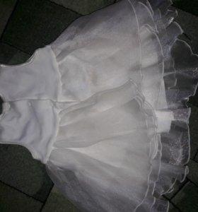 платье 0-3мес