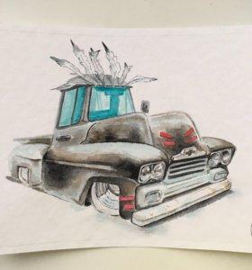 Картина chevy apache pickup 🏹