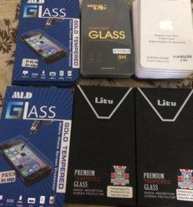 Стекло защитное iPhone 4,4s,5,5s,6,6 plus