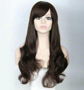 Новый парик вьющиеся волосы, цвет шоколад