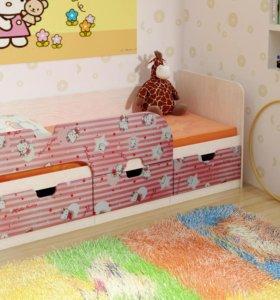 Кровать Минима пинк