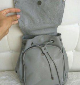Кожаный рюкзак новый