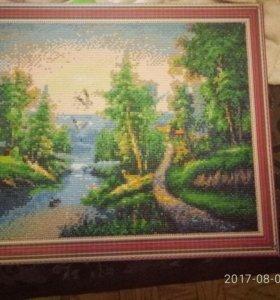 картина алмазная живопись размер 50на 40