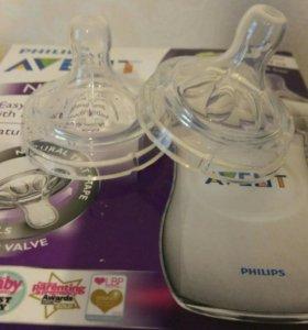 Новая соска Philips AVENT 2 шт. с 1 месяца