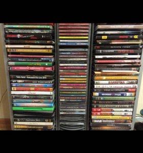 Диски с фильмами и музыкой