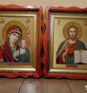 Венчальные иконы из бисера