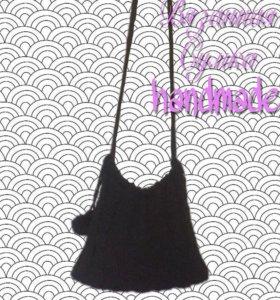 Вязанная сумка ручной работы
