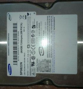 Жесткий диск 80Gb Samsung IDE(для старого компа)