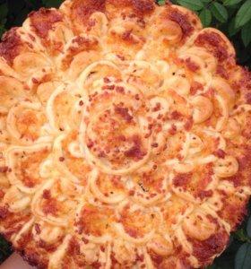 Мясной пирог хризантема 🌺