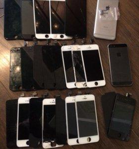 Рабочие разбитые дисплеи айфонов 4,5,6