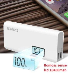 Внешний аккумулятор Romoss sense 4 10400mAh. Новый