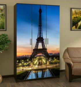 Шкаф с фотопечатью Париж