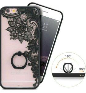 Чехол с кольцом на iPhone 6/6s