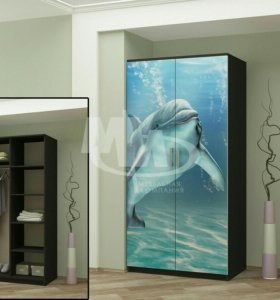 Шкафы с фотопечатью Дельфин