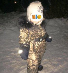 Зимний комбинезон+шапка