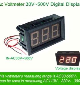 Вольтметр для переменного тока (30-500V)