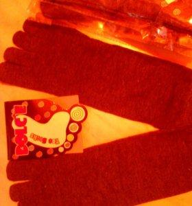 Носочки новые накаждый пальчик безразмерные