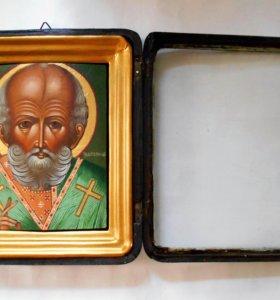 Продам икону Николай Чудотворец в киоте