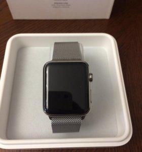 Часы Apple Watch 42 mm стальные Retina display 1 с