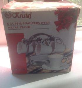 Чайный набор 6 персон новый