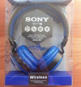 Наушники блютус Sony MS771F синие