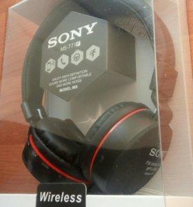 Наушники блютуз Sony MS771F черно-красные