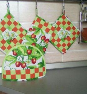 Кухонные наборы в стиле лоскутной техники!