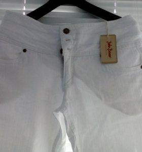 Шикарные,белые ,новые джинсы